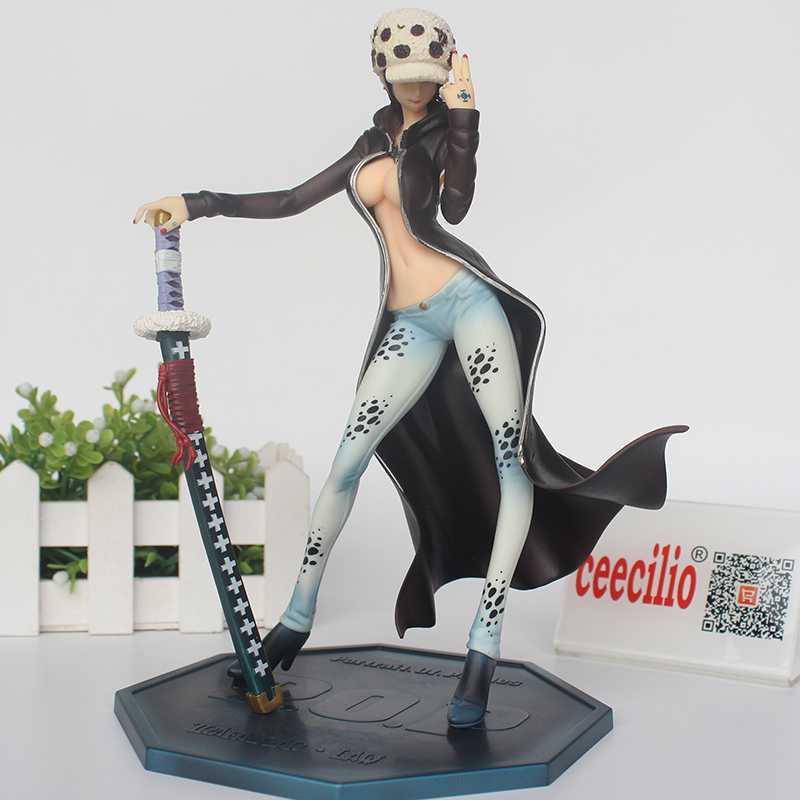 Anime One Piece <font><b>Action</b></font> <font><b>Figure</b></font> <font><b>Sexy</b></font> <font><b>Girl</b></font> COS Trafalgar Law PVC <font><b>Figure</b></font> POP One Piece Lady Collection Figurine 22CM image