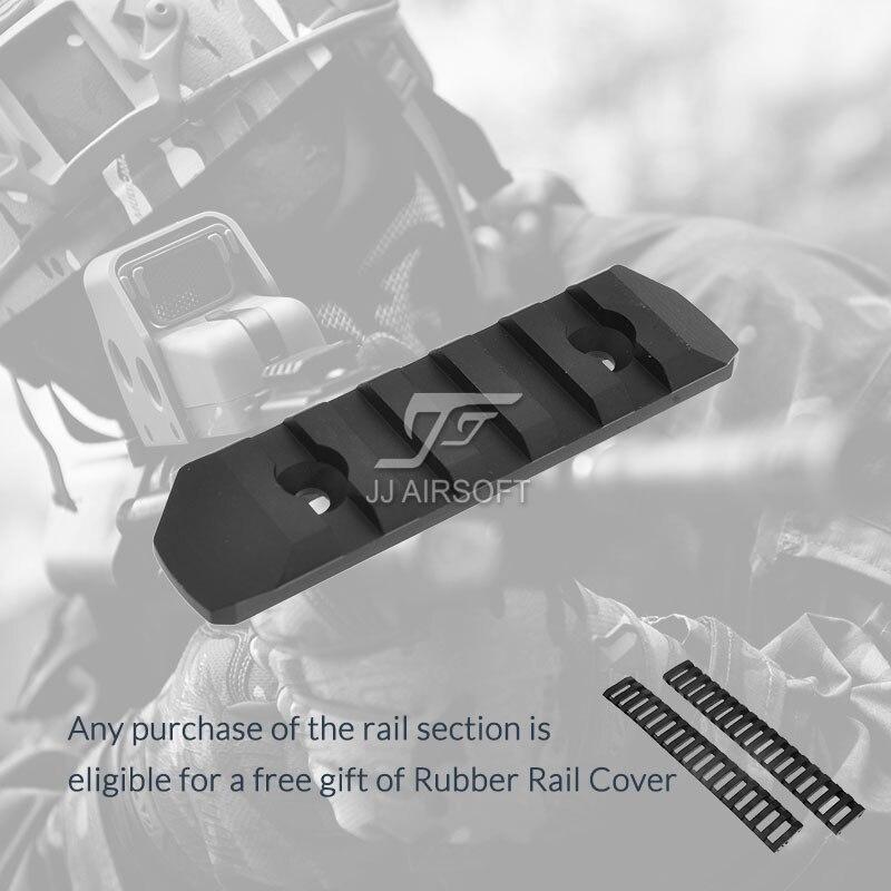 ACI 5-Slot 5 Slot M-LOK/MLOK Rail CNC Léger (Noir/Rouge/Tan/Argent) Acheter un en Obtenir 2 pcs GRATUIT Cover