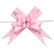 10 шт. подарочная упаковка ленты комната для бракосочетаний любовь сердца печатные большой Pull Лук Бабочка бант вечерние свадебное оформление автомобиля