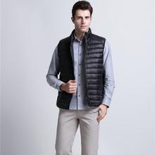 Warm Vest Jackets Coats Outwear Light Mens Clothing Duck-Down Autumn Boys Winter Sleeveless