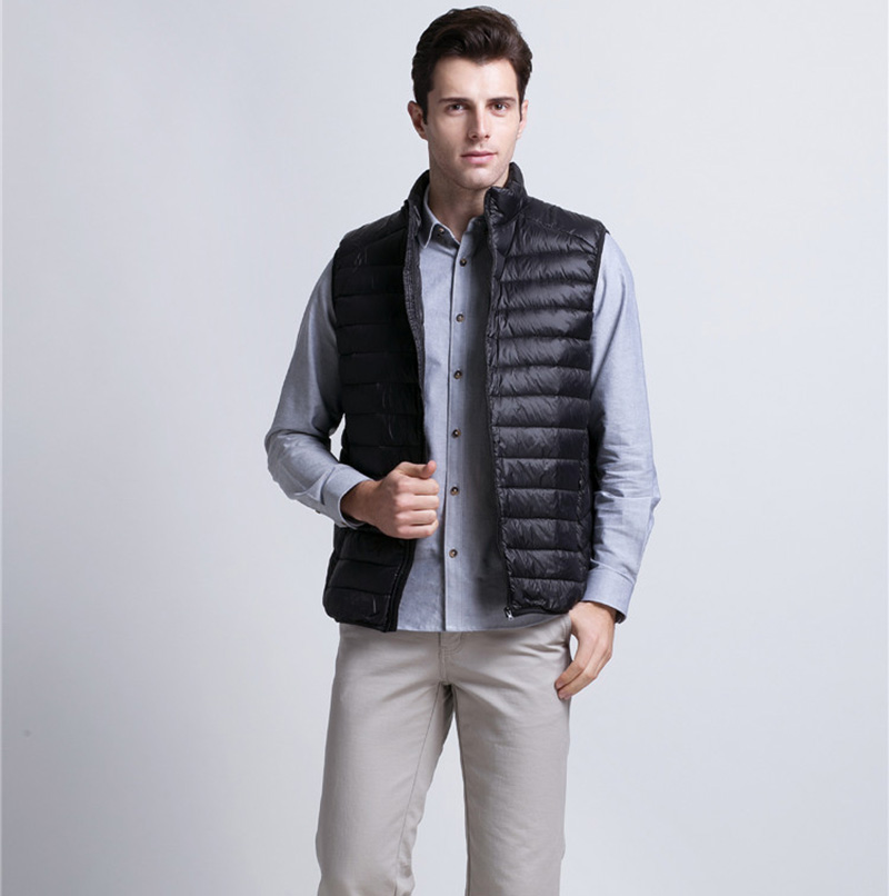 Autumn Winter light Duck Down Vests Mens Clothing Outwear Tops coats and jackets Warm Vest Sleeveless Waistcoat boys clothes