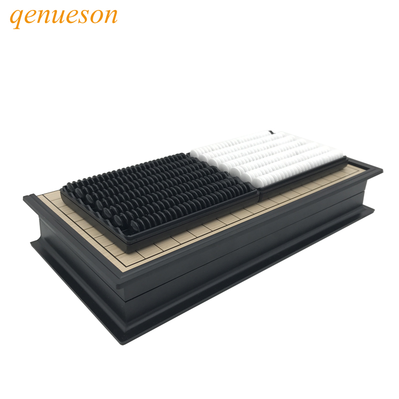 Chinese old Board Game Weiqi Checkers Folding Table magnetic Go chess set magnetic chess game toy gifts plastic go game qenuesonChinese old Board Game Weiqi Checkers Folding Table magnetic Go chess set magnetic chess game toy gifts plastic go game qenueson
