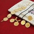 Moeda de ouro conjuntos de Jóias Etíope Coin set Colar Pingente Brincos Pulseira Anel