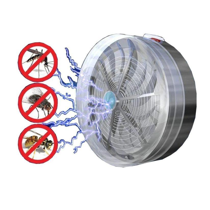 Summer Solar Powered Mosquito Killer Lamps Buzz UV Lamp Light Bedroom Fly Insect Bug Mosquito Kill Zapper Killer Indoor outdoor