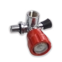 AC911 PCP rifle valve Red Gauged Paintball Valve SCBA Valve for Compressed Air Carbon fiber cylinder 4500 Psi M18*1.5 Thread-V