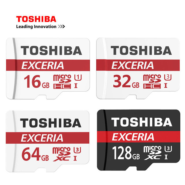 TOSHIBA U3 Memory Card 128G/64GB SDXC  Micro SD Card SDHC-I 32G/16G U1 C10 Official Verification Microsd for Smartphone/Tablet