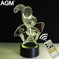 AGM Marvel Spiderman Table lamp Novelty Superheroes 3D Touch Night Lights 7 Color RGB 3D LED NightLights For Kids Gifts Children