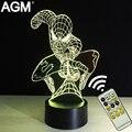 Agm lámpara de mesa novelty superhéroes marvel spiderman 3d táctil noche luces de 7 Colores RGB 3D LED NightLights Para Regalos de Los Niños niños