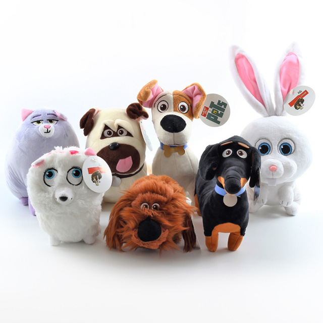 7PCS 20cm TY Cute Beanie Boos Big Eyes Babies Plush - Secret Life of Pets  Movie Soft Plush Toys Stuffed Cat Dog for kids gifts d22fc044e80