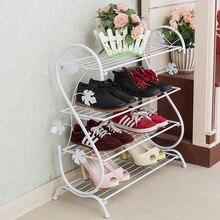 Металлическое железо ручной простой S тип обуви стойки современный творческий многослойная полка для обуви четыре слоя пол в помещении тапочки стойку