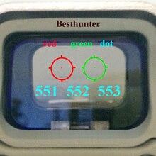 553 552 551 Красный зеленый точка голографический прицел Охота Красный точка рефлекс прицел с мм 20 мм крепление для страйкбола пистолет