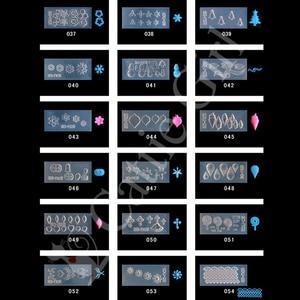 Image 3 - 134 шаблонов, 3D акриловая Форма для украшения ногтей, силиконовые формы, шаблоны для дизайна ногтей, шаблон, форма, искусственный дизайн
