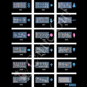 Image 3 - 134 أنماط ثلاثية الأبعاد قالب الاكريليك لمسمار الفن زينة سيليكون قوالب مسمار الفن قوالب نمط قالب رسومات أظافر صالون لتقوم بها بنفسك تصميم