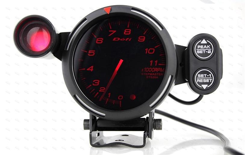 80mm Car Defi Tachometer Rpm Gauge Universal Car Stepper