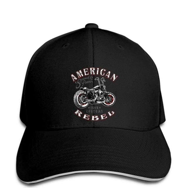 hip hop Baseball caps Funny Men hat cap Black Biker Life USA Men s American  Rebel Biker cap fe336251505