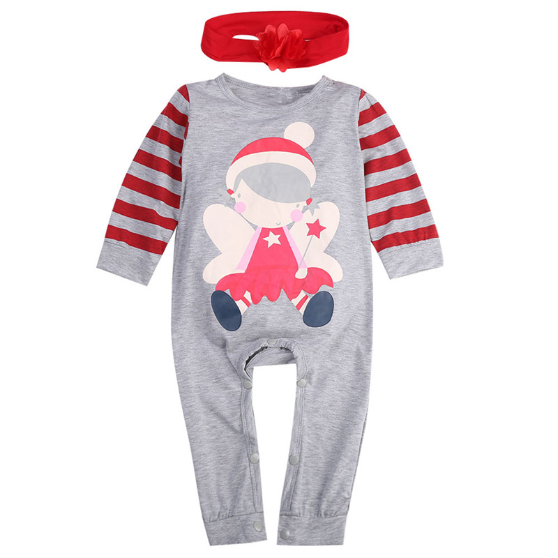 Baby Christmas One Piece Clothes Santa Baby Boys Girls ...