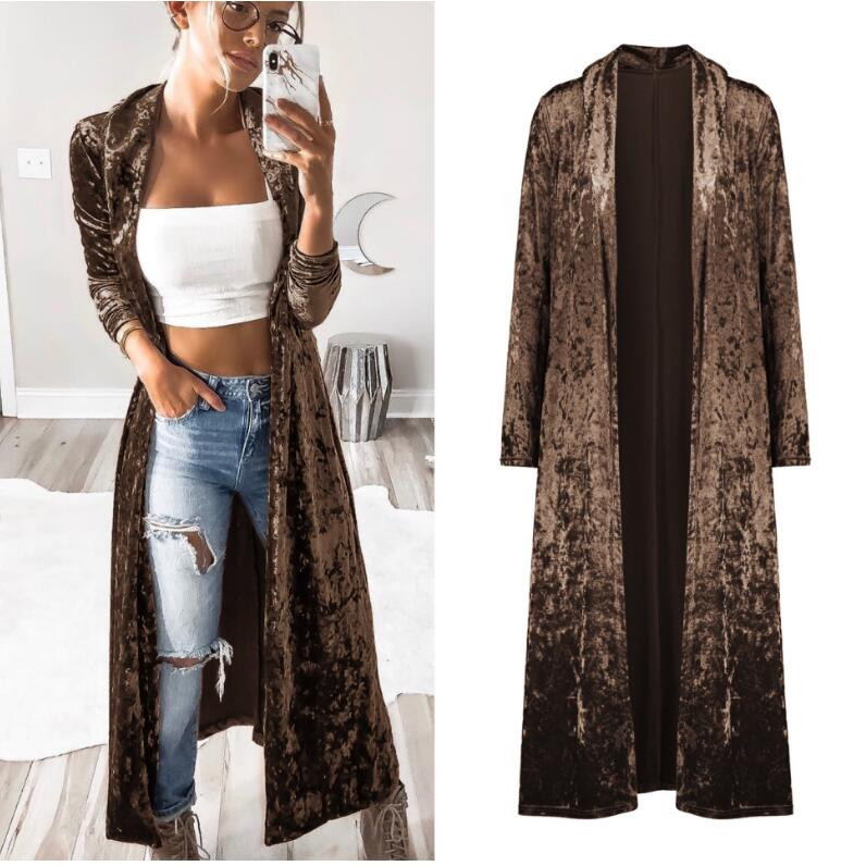 Semfri Long Cardigan Winter Autumn Women Fashion Loose Open Stitch Coat Solid Streetwear 2019 Fashion Jacket Korean Stytytle