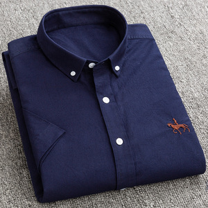 Image 2 - جديد S إلى 6xl قصيرة الأكمام 100% القطن أكسفورد لينة مريحة منتظم صالح حجم كبير جودة الصيف رجال الأعمال قمصان غير رسمية