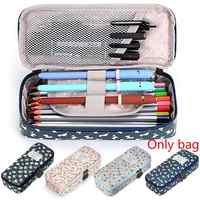 1pc Pastoral Cartoon Floral Pencil Case Girl Multi-function Stationery Bag Pencil Case Large Capacity Stationery School Supplies