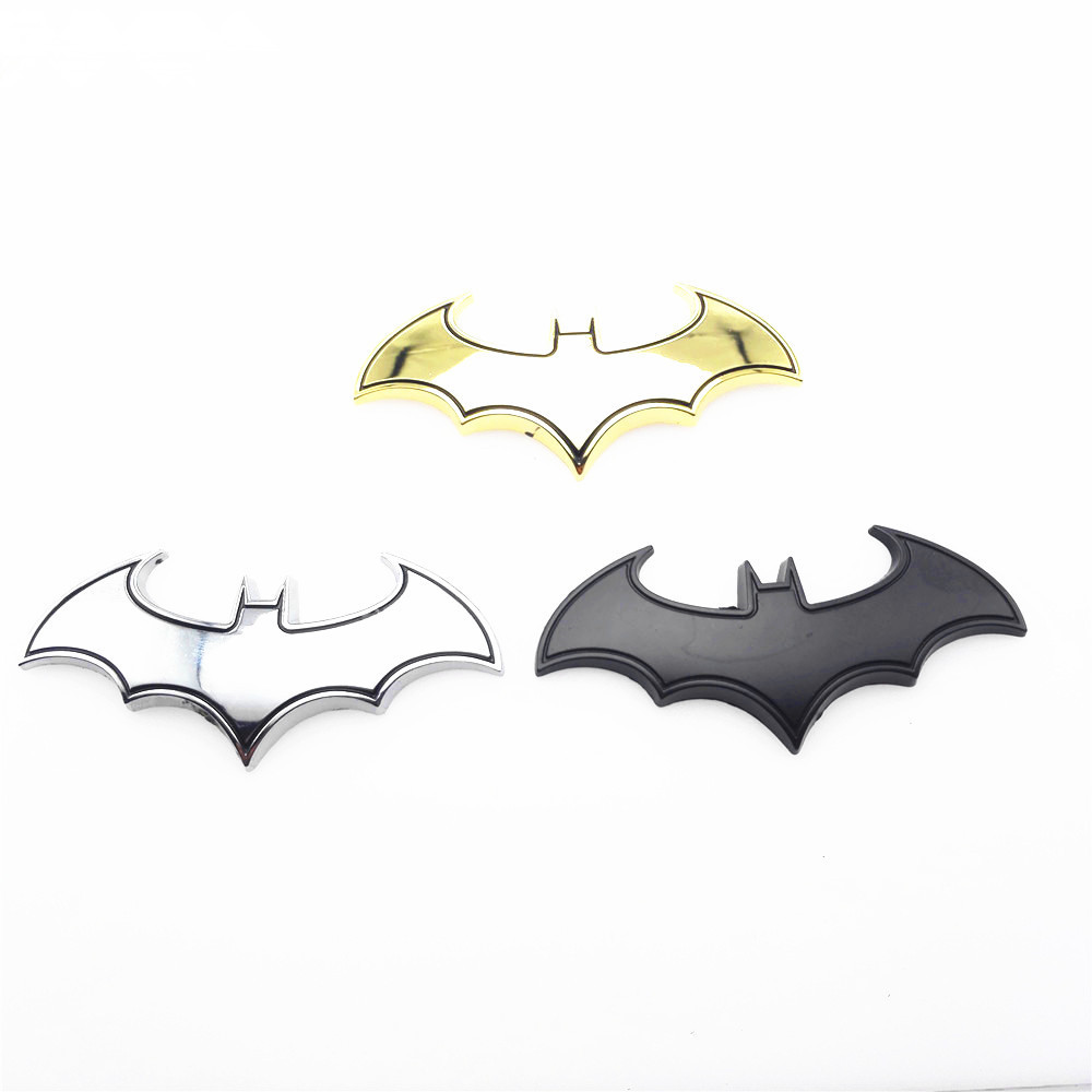 Cool Metal bat auto logo car styling car stickers batman badge emblem tail decal motorcycle car accessories automobiles USE
