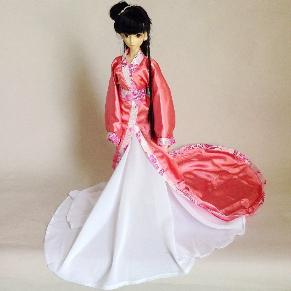 699# Pink Chinese Classical Long Dress/Suit For 1/3 SD BJD Dollfie 699 pink chinese classical long dress suit for 1 3 sd bjd dollfie