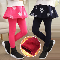 New Arrival 2016 Winter Retail Girl Leggings Girls Skirt Pants Cake Skirt Girls Warm Pants Kids