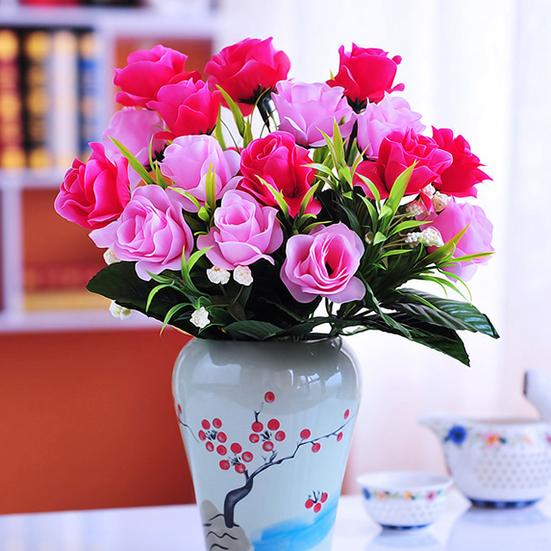 One Bouquet 6 10 14 heads cute silk daisy lily artificial decorative ...