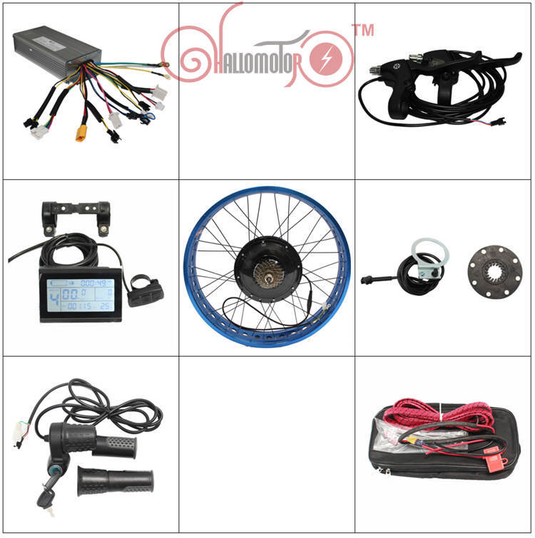 RisunMotor Customized 24V 36V 500W Fat E-Bike Kit Rear Fat Wheel Conversion Kits For Controller With 3Color Rim+LCD3 Display+PAS risunmotor electric bicycle conversion kits 36v 48v 1000w ebike motor wheel size 14 29 lcd controller pas throttle brake lever