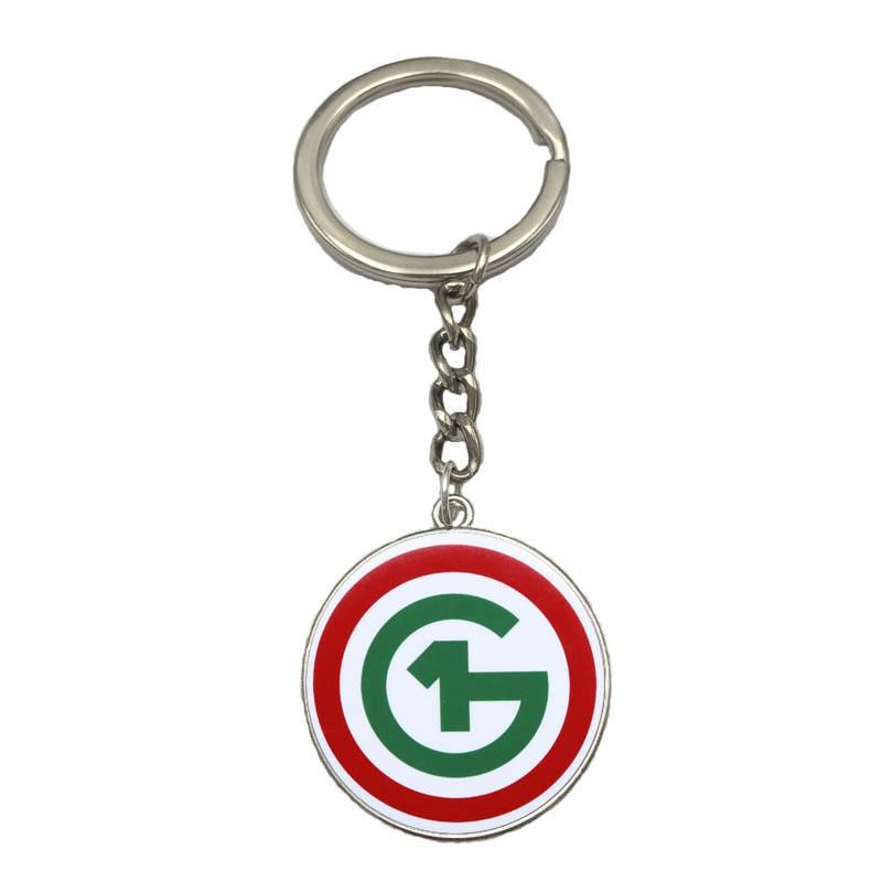 o1g Hungary Keychain Classic Logo Glass 27mm Dome Pendant Key Chain Purse Bag Charm Key Ring Porte Clef Souvenirs K00066