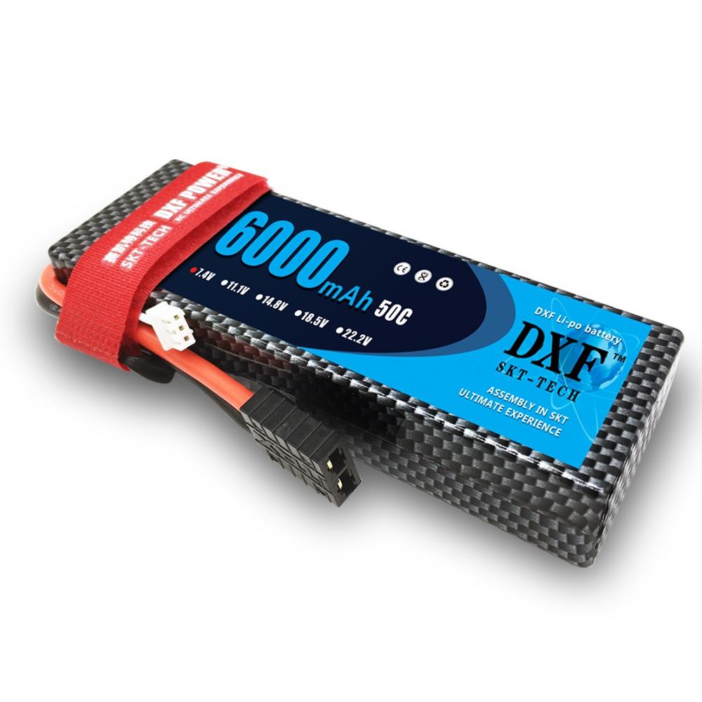 DXF 7.4V 6000mAh 50C 2S класса A Li-poly Lipo Battery Hard Case - Радиоуправляемые игрушки
