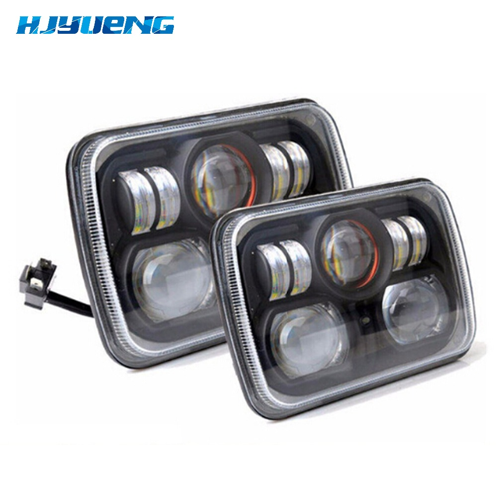 7inch LED Headlight Replacement for Jeep Cherokee XJ Trucks 7 INCH Led Headlight 5 x 7 inch square Headlamp for jeep cherokee 1 pair 7 inch rectangular led headlight