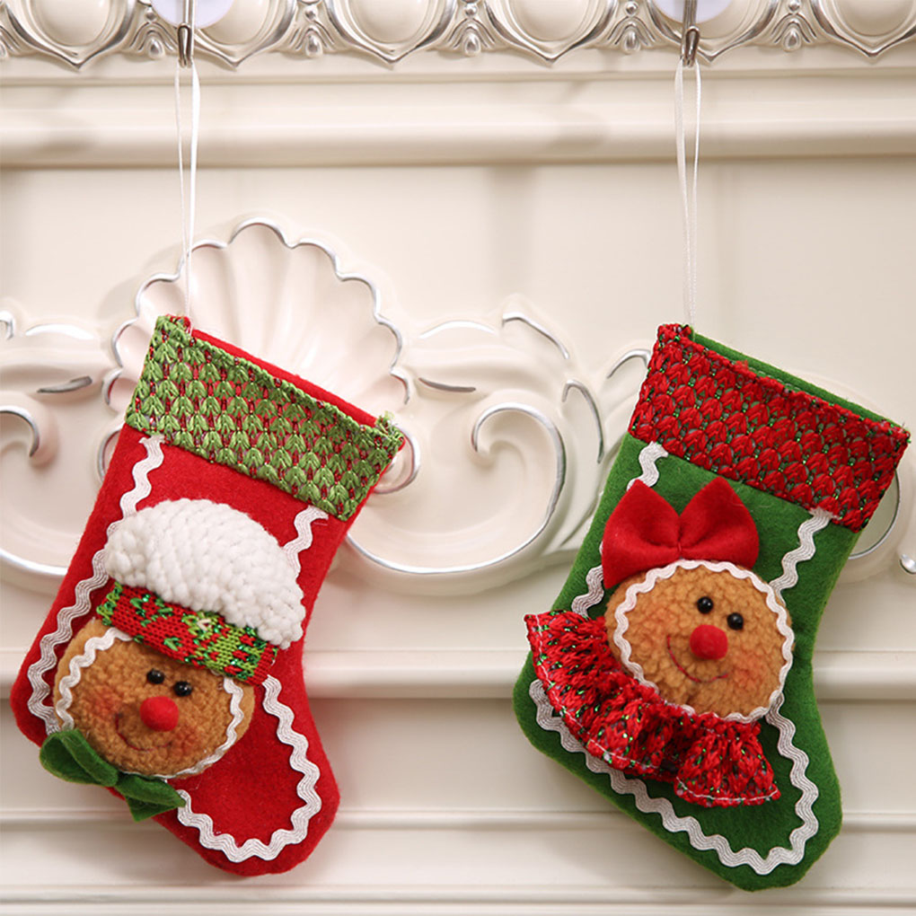 Popular Cartoon Christmas Socks Non-woven Stockings Gift Bags Hanging Christmas Ornaments ...