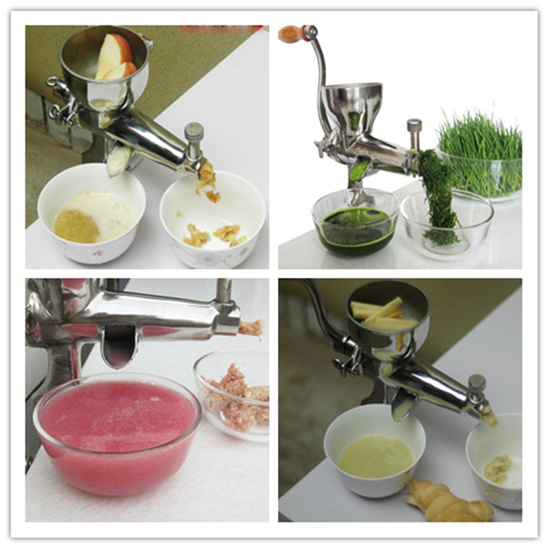 Easy operation kitchen use manual stainless steel health wheatgrass juicer fruit vegetable commercial juicing machine  ZF good selling home used manual fruit vegetable juicer machine