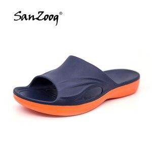 Image 1 - Sanzoog מותג אופנה גברים נעלי בית גדול גודל 36 ~ 50 קיץ חוף כפכפים רך נוח נעלי בית גברים של לסתום נעליים