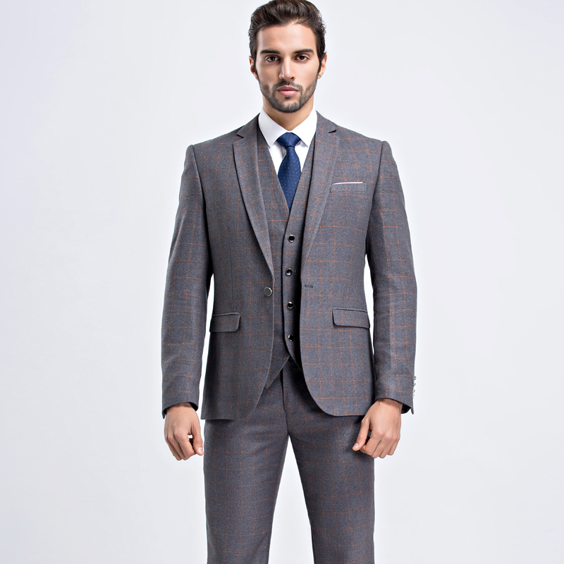 Slim Fit Wedding Suit Men