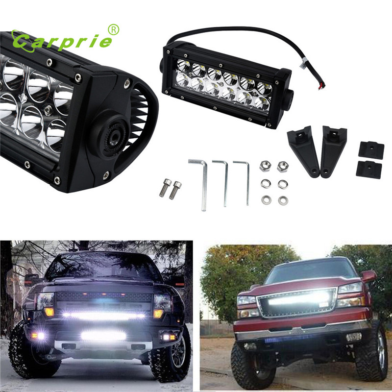 AUTO 2016 2x 7INCH 36W Light Bar Flood HID wheeled machine Bulb Bright Auto DRL Lamp Bulb Headlight car-styling car light feb24
