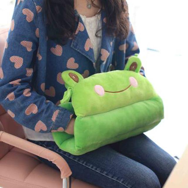 42 cm Envío de La Gota Rana Almohada Gato cojín Animales mano caliente de Conejo Gato de juguete de felpa muñeca de regalo de cumpleaños