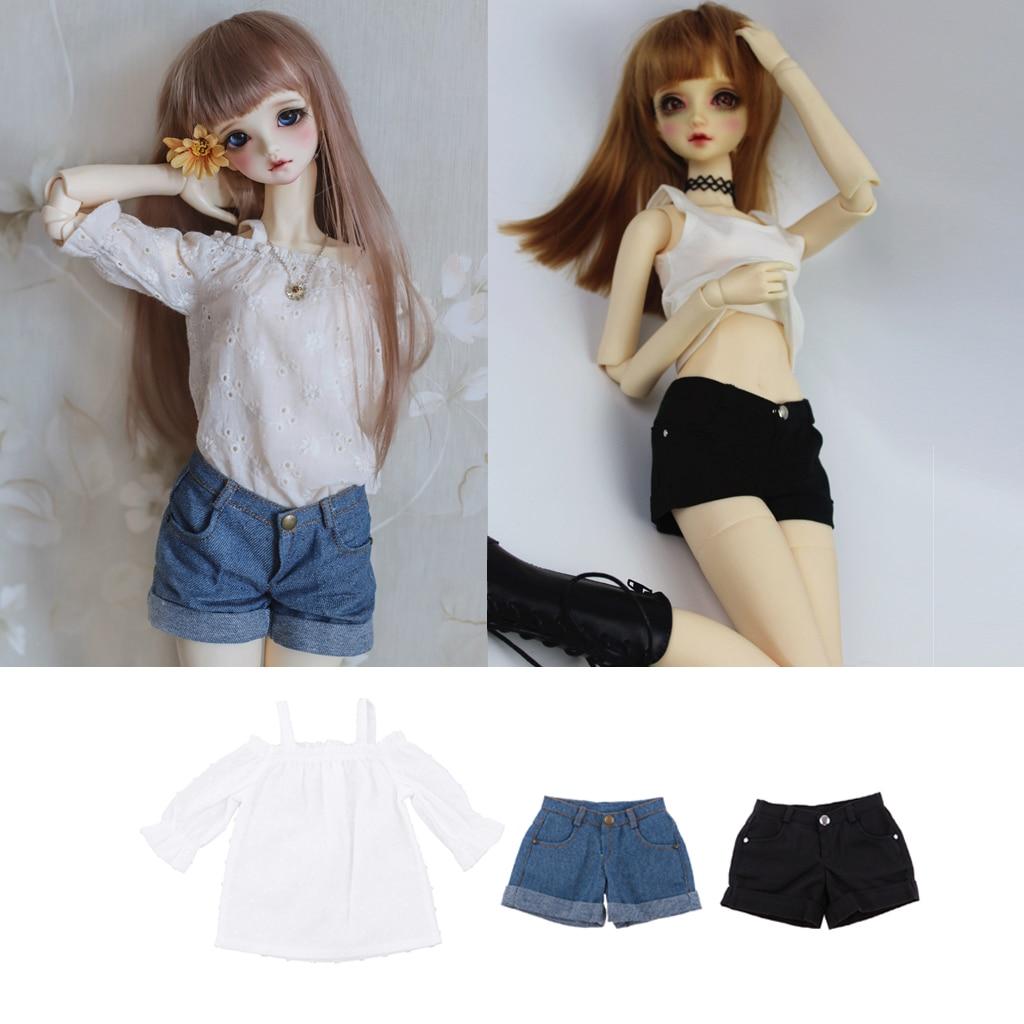 Hot Black Low waist Jeans Pants Outfit BJD YOSD 1//6 SD DZ BJD Dollfie Clothes