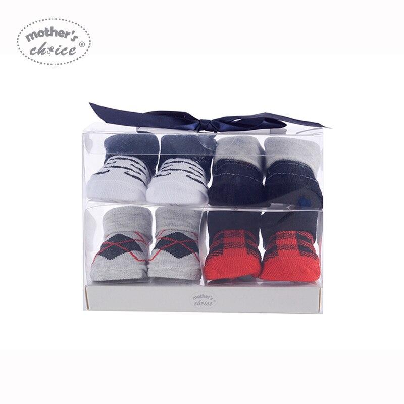 Mother's Choice 4 paren baby sokken katoen Baby zachte jongens - Babykleding - Foto 1