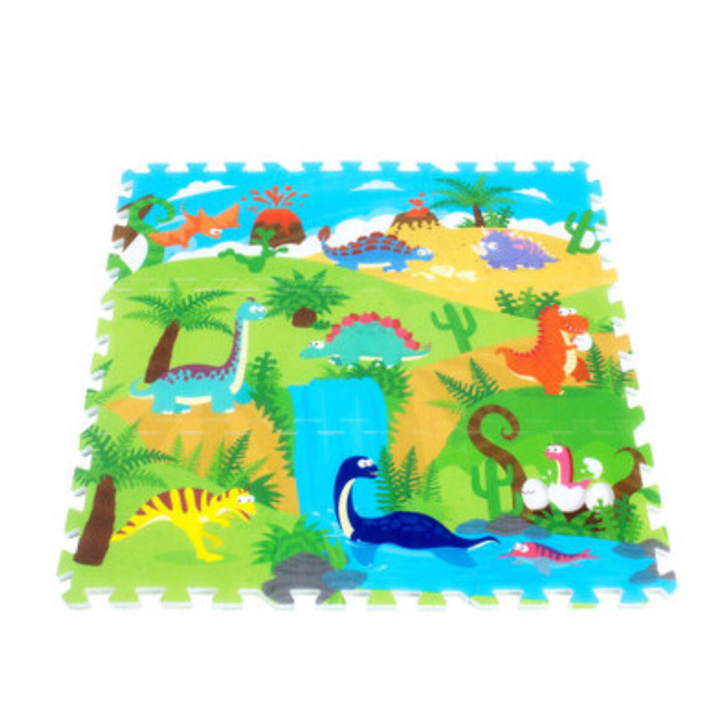 9pcs Set Dinosaur Printed Eva Foam Puzzle Mat 30 30 1 5cm