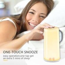 TITIROBA Wake Up Light นาฬิกาปลุกจำลอง Sunrise นาฬิกาดิจิตอล TOUCH SENSOR 5 เสียงธรรมชาติฟังก์ชั่น Snooze นาฬิกาสำหรับห้อง