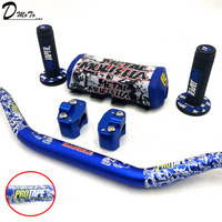 Handlebar For PRO Taper Pack Bar 1 1/8 Handle bar Pads Grips Pit Pro Racing Dirt Pit Bike Motorcycle CNC 28.5mm Adapter