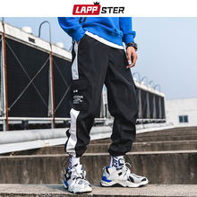 Harem Pants Pocket-Trousers Joggers Side-Striped Mens Streetwear Casual LAPPSTER Colorful