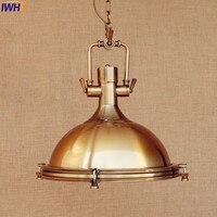 IWHD Amerikaanse Retro Hanger Verlichtingsarmaturen Goud Koper Stijl Loft Industriële Vintage Lamp Opknoping Lichten Lamparas Verlichting