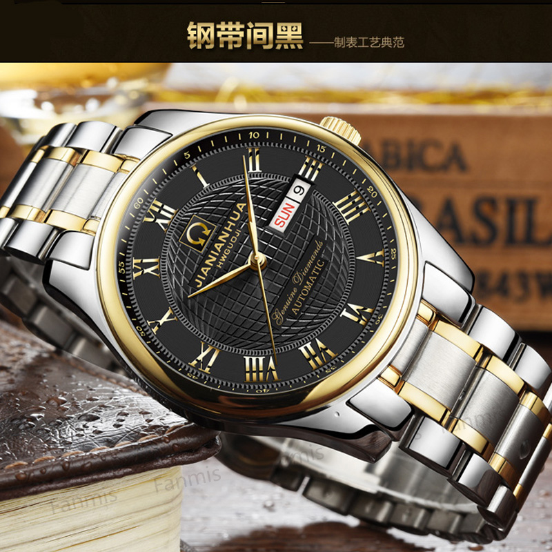 CARNIVAL Automatic Mechanical Watch Men Date Day Luxury Brand relogio masculino Sapphire stainless steel Mens Wristwatch fashion winner men luxury brand date display stainless steel watch automatic mechanical wristwatch gift box relogio releges 2017