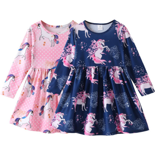 PUDCOCO Newest Kids Baby Girls Floral Party Pageant Tutu Princess Long Sleeve Dress Autumn Casual Clothes 1-6T