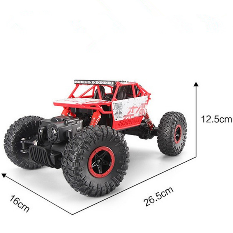 RC Car 4WD 2.4GHz Rock Crawlers Rally climbing Car 4x4 Double Motors Bigfoot Car Remote Control Model Off-Road Vehicle Toy