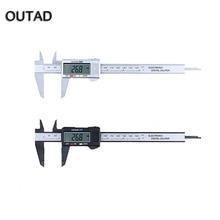 Best price OUTAD 2 Colors Measuring Tool 0-150mm 6 Inch Plastic LCD Digital Electronic Carbon Fiber Vernier Caliper Rule Gauge Micrometer