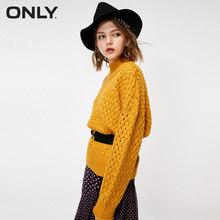 ONLY autumn new hollow-out pullover sweater women | 118313554(China)