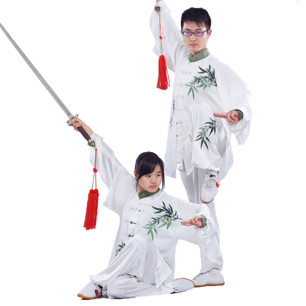 っPor encargo bordado de bambú tai chi traje Kung Fu rendimiento ...